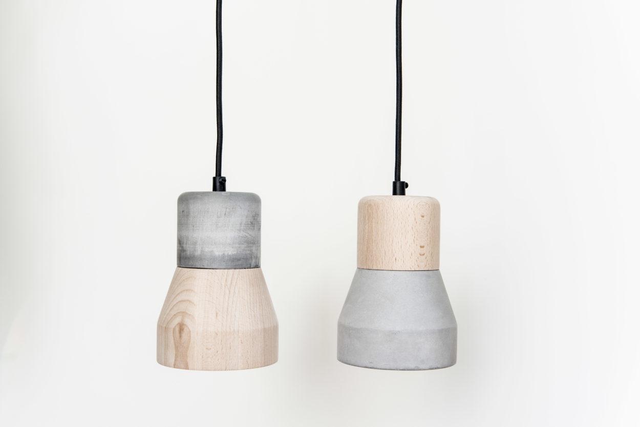 suspension bois metal beton