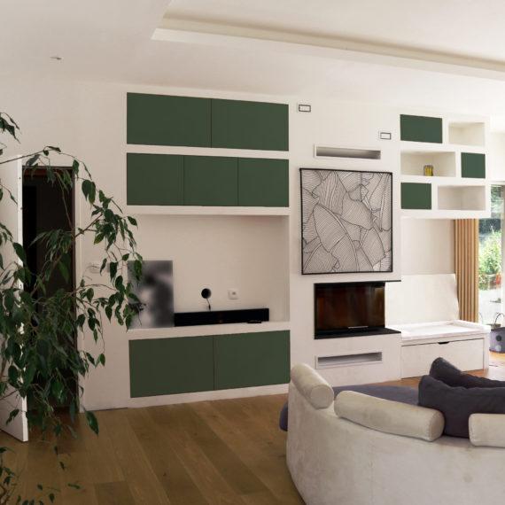 Réalisation d'un meuble TV et cheminée sur-mesure à Saint Médard en Jalles