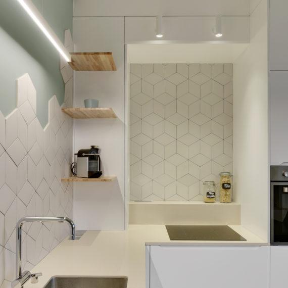 Rénovation d'une cuisine au style zen et épuré